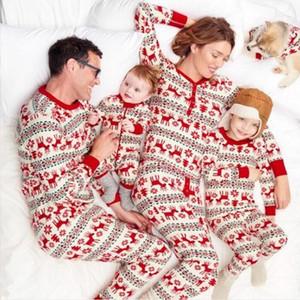 Natale in famiglia Inverno delle tute Deer Pajamas Outfits Abbigliamento bambino Papà mamma Kid Set della ragazza del ragazzo di natale a maniche lunghe per adulti due pezzi WY926w