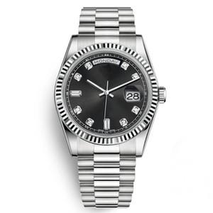 맨 위 남자 다이아몬드 손목 시계 패션 기계 자동 골드 스틸 스트랩 시계 남성 일 Daydate 디자이너 비즈니스 라인 석 시계