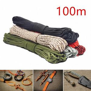 100m Colorful 4mm Luminous Parachute Cord 7 Core Lanyard Rope DIY Umbrella Rope Camping Survival Equipment Emergency Climbing GTJE#