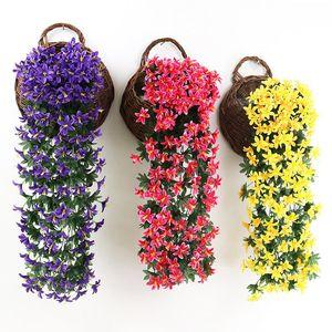 75CM الزهور الاصطناعية زهرة زنبق فاين الجدار شنقا سلة بلكونة الديكور المنزلي ديكور الزفاف