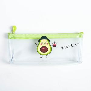 Transparent Pencil Case Mesh Pencil Bag For Kids Girls Gift Office School Supplies Kawaii Stationery Zipper Pencilcase