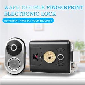 WAFU Fingerprint Door Lock Stainless Steel Smart Lock Home Security Keyless Bloqueio com chave de emergência