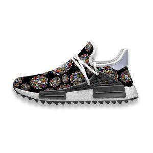 Custom Running Shoes Cute Dog Mandala Human Race NMD Trail Mens casual Sneakers breathable