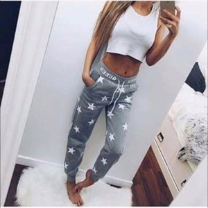 2017 On Sale Velishy-New Arrival Star Printed Drawstring Women Pants Lady Bottoms Waistband Tracksuit Joggers Pants T200519