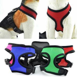 Dog Harness Vest Mesh Pet Collars Adjustable Pet Cat Dog Chest Strap Soft Nylon Dog Leashes Pet Supplies 18 Colors YG986