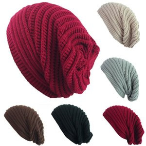 Epacket Delivery hot autumn winter hat wool knit hat outdoor warm cover cap 5pcs lot Hats .