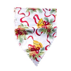Decoração de Natal Poliéster Print Christmas Table Bandeira de Mesa de Natal Pano de Christmas Xmas Party Fontes 35 * 180cm HWB2592