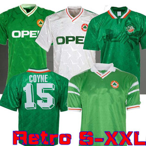 1990 1992 Irlande Retro Soccer Jersey 1990 Coupe du monde Irlande Home Away Jersey classique 90 92 Vintage Irish Sheedy 1994 Chemises de football 1998