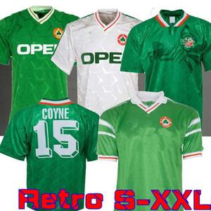 1990 1992 Irland retro Fußball-Trikot WM 1990 Irland zu Hause weg klassischen Jersey 90 92 Vintage Irish Sheedy 1994 Fußballhemden 1998