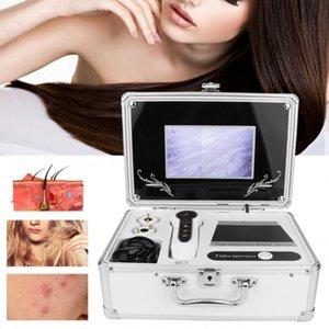 7 인치 상자 형 두피 헤어 소낭 얼굴 피부 감지기 헤어 분석기 기계 디지털 피부 건강 감지 100-240V