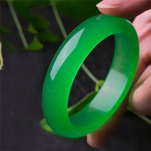 Natural Jade bracelet Real Silver bracelets Bangles Jewelry Retro Bruiloft Accessories 2pcs