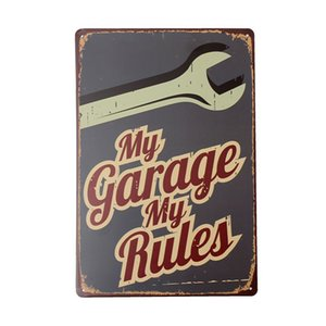 My Garage Tin Sign Vintage Metal Plaque Poster Bar Pub Home Wall Decor Tin Painting