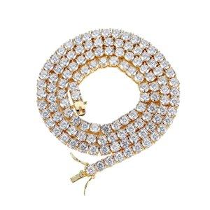 Роскошные 3mm5mm CZ CZ Crystal Tennis Braclets Hip Hop Clexed Out Gold Silvery Color Chare Mens Bracte для женщин Мужчины Свадебные украшения 200928