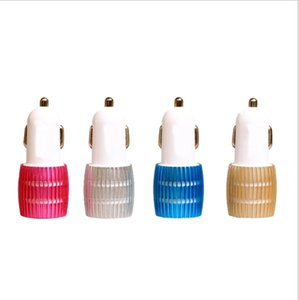 2020 New Metal Alloy Shell With led Light 3.1A 2.1A Dual Port USB Car Charger Adapter for Apple iPhone 5 5S 5C 4 4S iPad air Samsung Galaxy