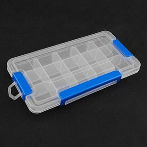 1pc prácticos de bricolaje herramientas de empaquetado de la caja de 15 ranuras electrónica Caja de almacenamiento extraíble Piezas de tornillo de costura joyas de plástico Herramienta fXcn #