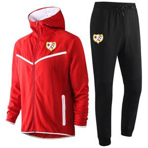 2020 Rayo Vallecano football sweat à capuche Survêtement Ensembles sport d'hiver pour hommes occasionnels costume de sport de formation Veste à capuche Sets en cours