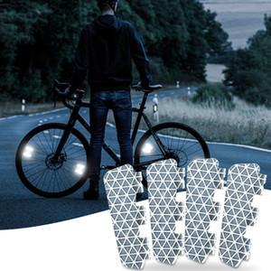 25   354 bicycle parts luminous panel night reflector VTT reflector Bicycle STICKER general warning sign reflector