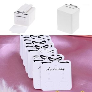 2019 New 100Pcs 3.5x4cm Ear Studs Card Tag Marking Label Necklace Earring Hairpin Packing Cards Jewelry Displays Paper Organizer1