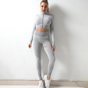 Women Fashion Tracksuits Active Yoga Suits Women Running Outfits Three Piece Pants 8 colors Ins 2020 New Wholesale