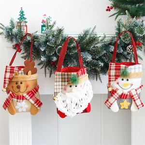 Sac à main de Noël Totes Sac cadeau de stockage Candies mas X-Design Bonhomme de neige Décoration de Noël Cartoon Sacs à main Festival de sacs de transport CZ110903
