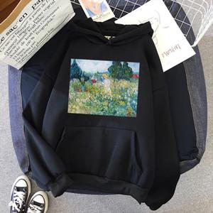Hoodies Women Hoodies Women Print Print Sweatshirt Pullovers Regular Streetwear Oil Painting Hoodie