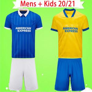 Brighton jersey kit adulti + bambini maglie calcio Hove Albion 2020 2021 MAUPAY TROSSARD CONNOLLY MURRAY completo da uomo blu giallo 20 21 maglie da calcio da ragazzo
