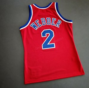 Cheap Custom #2 Chris Webber College Basketball Jersey Men's Red Any Size 2XS-3XL 4XL 5XL Name Or Number Free Shipping Top Quality