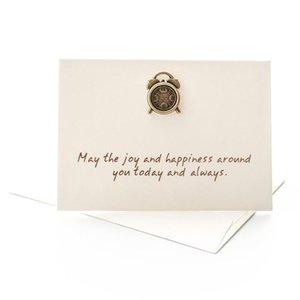 Xinaher 5pcs creativo Busta Piccolo buon compleanno cartolina d'auguri in bianco Gift Cards metallo 3d fatto a mano per le vacanze Thank You Card sqcCzW