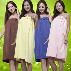 Microfiber Bow Bowknot Women Lady Girl Wearable Tube top Beach Bathing SPA Hot spring Bath Skirt Towel Travel Body Wrap One Size