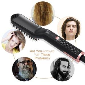 Hair Straightening Irons Beard Grooming kit Boy Multifunctional Men Beard Straightener Styling Multifunctional Hair Comb Brush