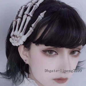 Gothic Girl Dark Style Jewelry Halloween Large Skull Hand Bone Ornament Hair Clip Hand Claw Side Clip Headdress