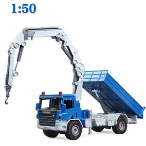 KDW Alliage Diecast Crane Camion Modèle 1:50 Grue télescopique SUPPORT DE DUPTENUSE DE VÉHICULE DE VÉHICULE DE VÉHICULE DE VÉHICULE POUR ENFANTS COLLECTION JOUEURS ENFANTS X0102