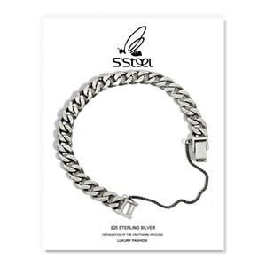 S'STEEL 925 أساور الفضة للنساء الرجال أساور موهير مودا بلاتا عشاق هدية فضية 925 مجوهرات مجوهرات الشرير LJ201020