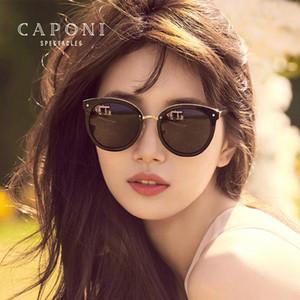 CAPONI ojo de gato vidrios de Sun de las mujeres 2020 Diseñador de chica gafas de sol polarizadas de la vendimia sombras de Sun para las mujeres CP2104