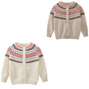 Designer Clothes Knitted Boys Sweater Single Breasted Girls Cardigan Warm Toddler Outwear Boutique Kids Clothing 2 Colors DW4858