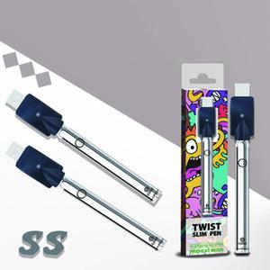 Original Coso Twist VV Batterie avec affichage Boîte 380mah tension variable Bas Spinner Préchauffez Vape Battery Cartridge 510 fil Vaporizer