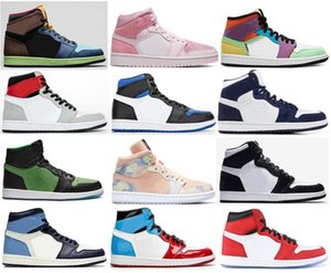 Nuovo 1 Bio Hack Twist Giappone Midnight Navy Zoom rabbia Verde Chicago cristallo di pallacanestro Scarpe Uomo 1s Mid Digital Rosa Pherspective Sneakers