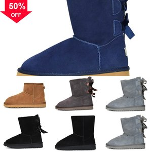 boot auugg's Classic Women Winter fashion warm snow Australia boots Lazy shoes waterproof mini Tall women boot winter HOT with certificate t
