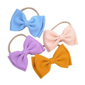 Candy cor sólida arco arco fita fita arcos headwear fotografia recém-nascida adereços meninas curvar tiara tiara headwrap cabelo acessórios112 109 q bbyvih
