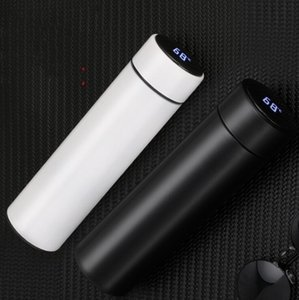 Led Smart Mug Tumbler Temperature Display Vacuum Stainless Steel Water Bottle Kettle Thermo Cup With Led Touch Screen Gift Cup Lxl968