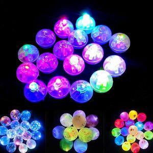 100 Pcs lot Round Ball Led Balloon Lights Mini Flash Lamps for Lantern Christmas Wedding Party Decoration White, Yellow, Pink 1027