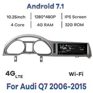 Android 7.1 Car DVD Radio Multimedia Player GPS Navigation for Audi Q7 2006-2015 4+32G WIFI IPS Touch Screen BT 4G LET