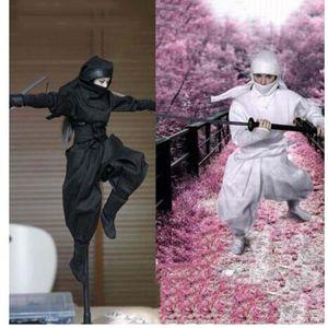 TDA-04 1/6 Skala Japanische weibliche Ninja-Kleidung Set Weiß / Schwarzes Modell für 12 Zoll Action Figure Body Accessoire X0121
