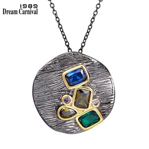 All Necklace Qshapes Feminine Pendant Dreamcarnival1989 for Women New Delicate Color Cubic-zircon Party Must Have Jewelry Wp6675w