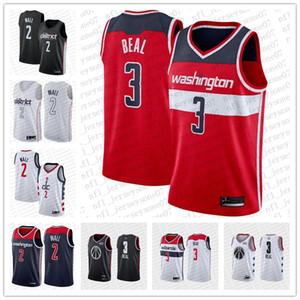 Benutzerdefinierte Männer der Frauen JugendhundingtonZauberer 3 Bradley BEAL 0 Gilbert Arenas Blau Weiß Rot Thopfback Basketball Jersey