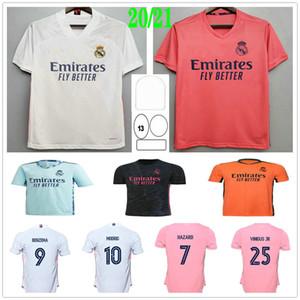 2020 2021 Реальный Мадрид Футбол Футбол Джордс Опасность Модрические Jovic Rodrygo Vinicius JR Benzema Sergio Ramos Custom 20 21 Человек Женщина Детская Футбольная Рубашка