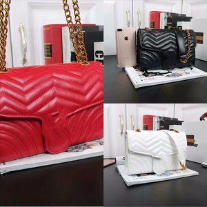 IFM Mujer Wave Pattern Love Heart Chain V Messenger Real Designer Bag Moda Lujos de Lujo Bolsas Bolsa Bolsa Hombre Hombro Designeradores Totes