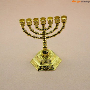 Christmas Home Hot Popular Guoyetrading Metal Candle Holders 7-arms Candle Stand Wedding Decoration Candelabra Centerpiece Candlestick Gold