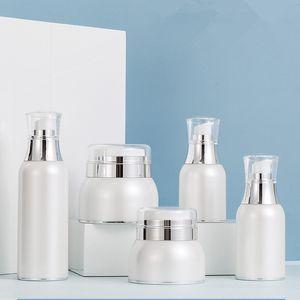 DIY Acrylic Airless Pump Cream Bottles 30ml 50ml 100ml Empty Liquid Foundation Face Foot Mask Vacuum Container Storage 6pcs