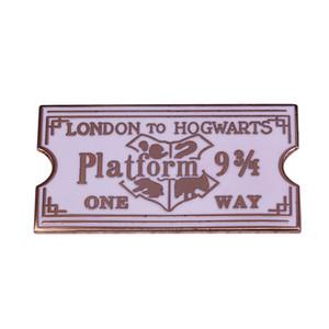 해리 포터 수집 용 에나멜 배지 마법 플랫폼 9 3/4 배지 호그와트 기차 티켓 브로치를 표현 런던 호그와트에
